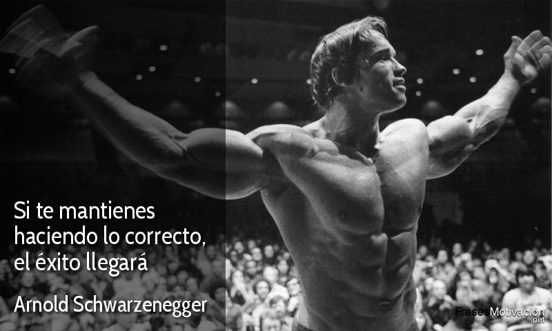 Si te mantienes haciendo lo correcto, el éxito llegará - Arnold Schwarzenegger